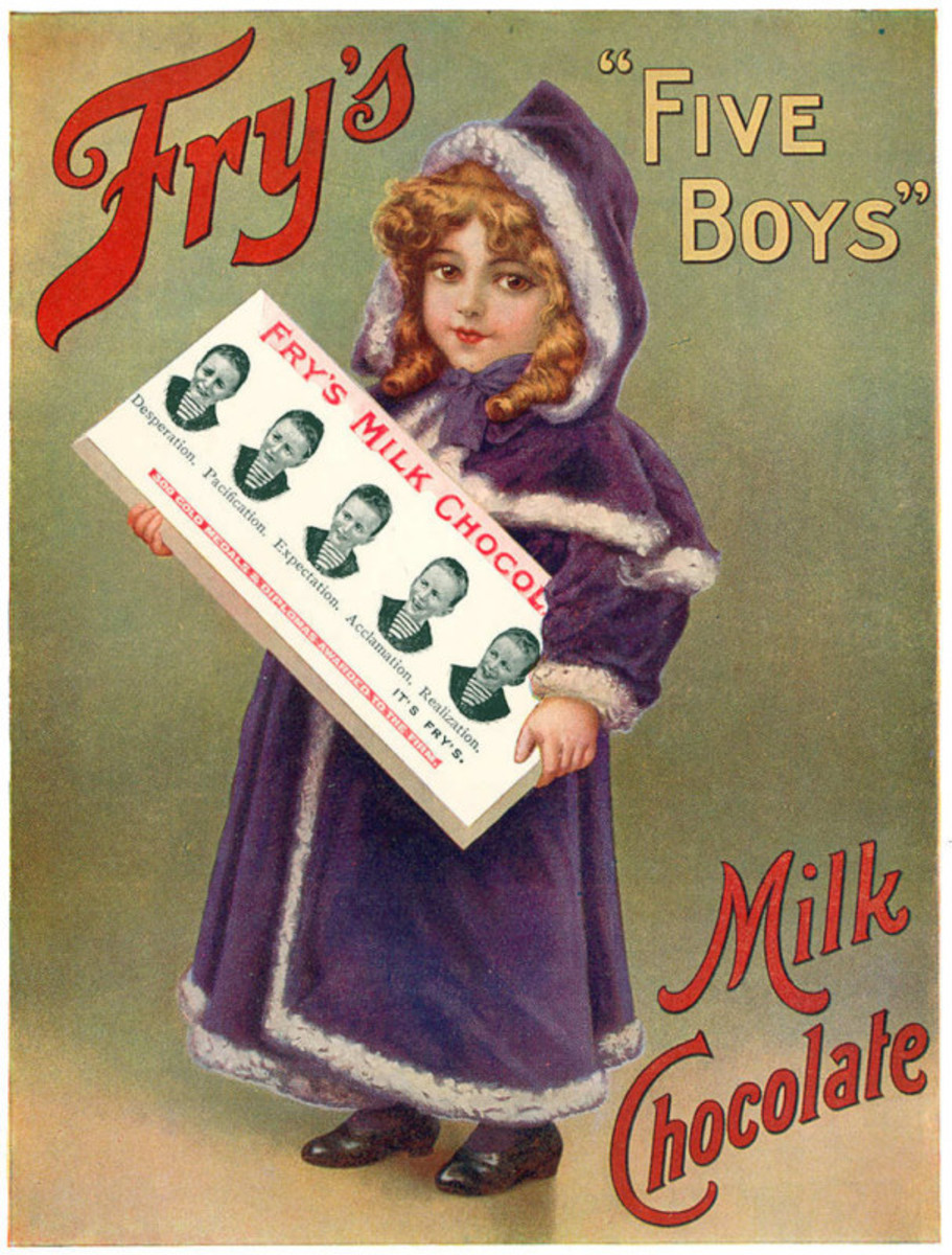 The first moulded chocolate bar by J.S. Fry & Sons Cocolate Factory