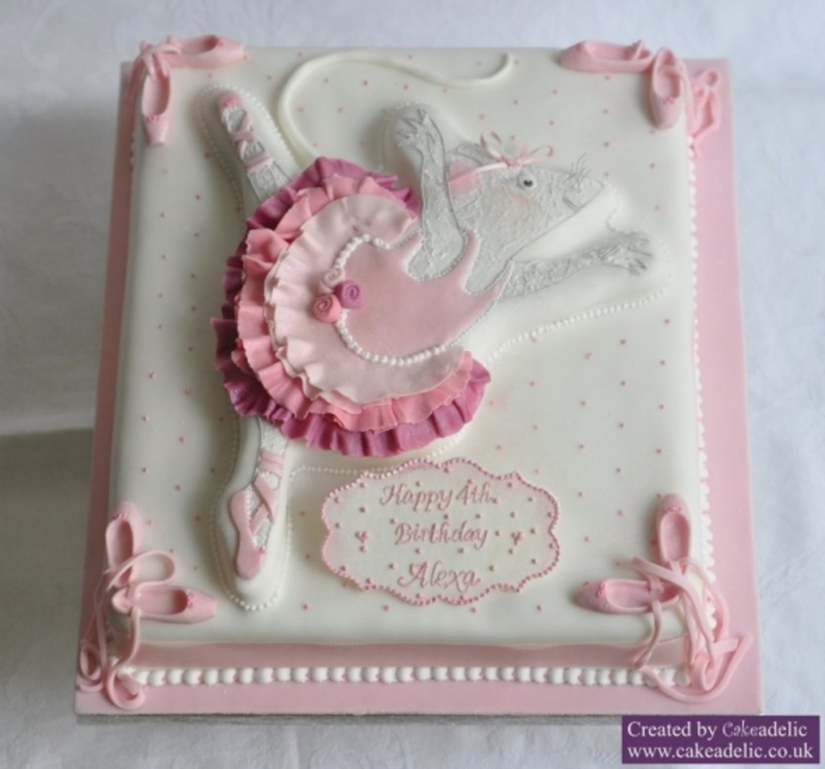 Angelina Ballerina Party cake
