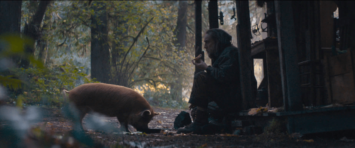Pig eats most of Nic Cage's movies.