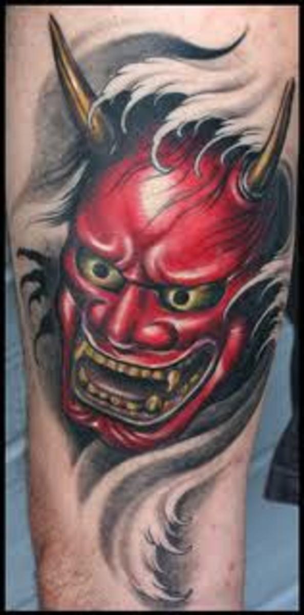 Японские демоны на тату