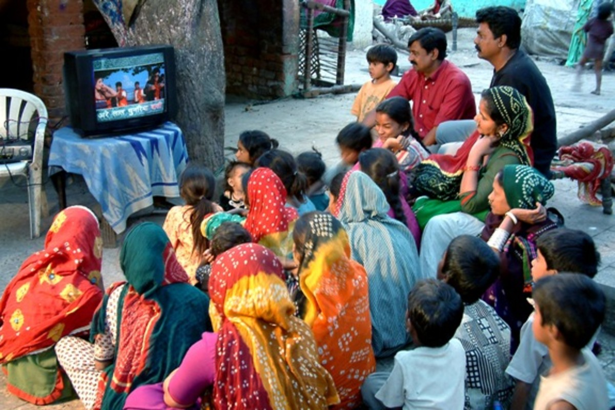 "Viewers watch the popular program called ""Chitrageetham"""