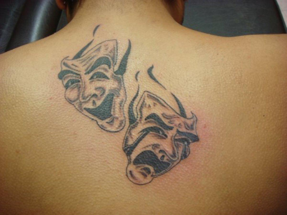 disturbing mask tattoos. Black Bedroom Furniture Sets. Home Design Ideas