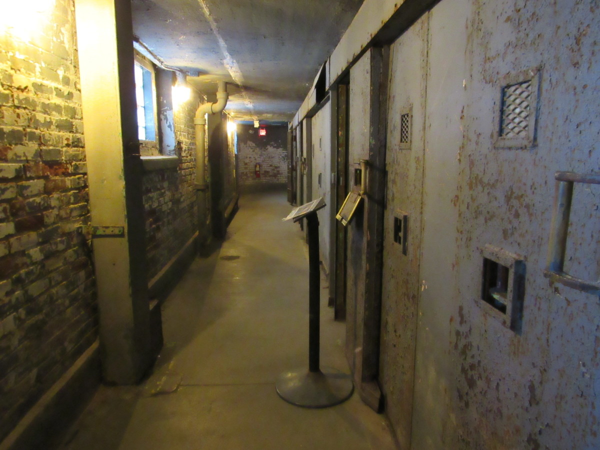 Section of the solitary confinement block containing cells from the 1970s