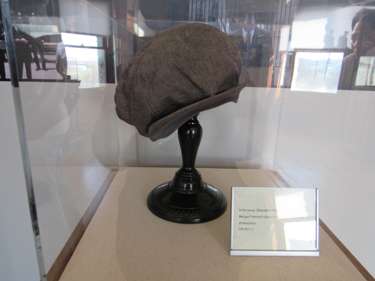 A movie prop from The Shawshank Redemption. This hat was worn by Morgan Freeman in multiple scenes during his portrayal of Red.