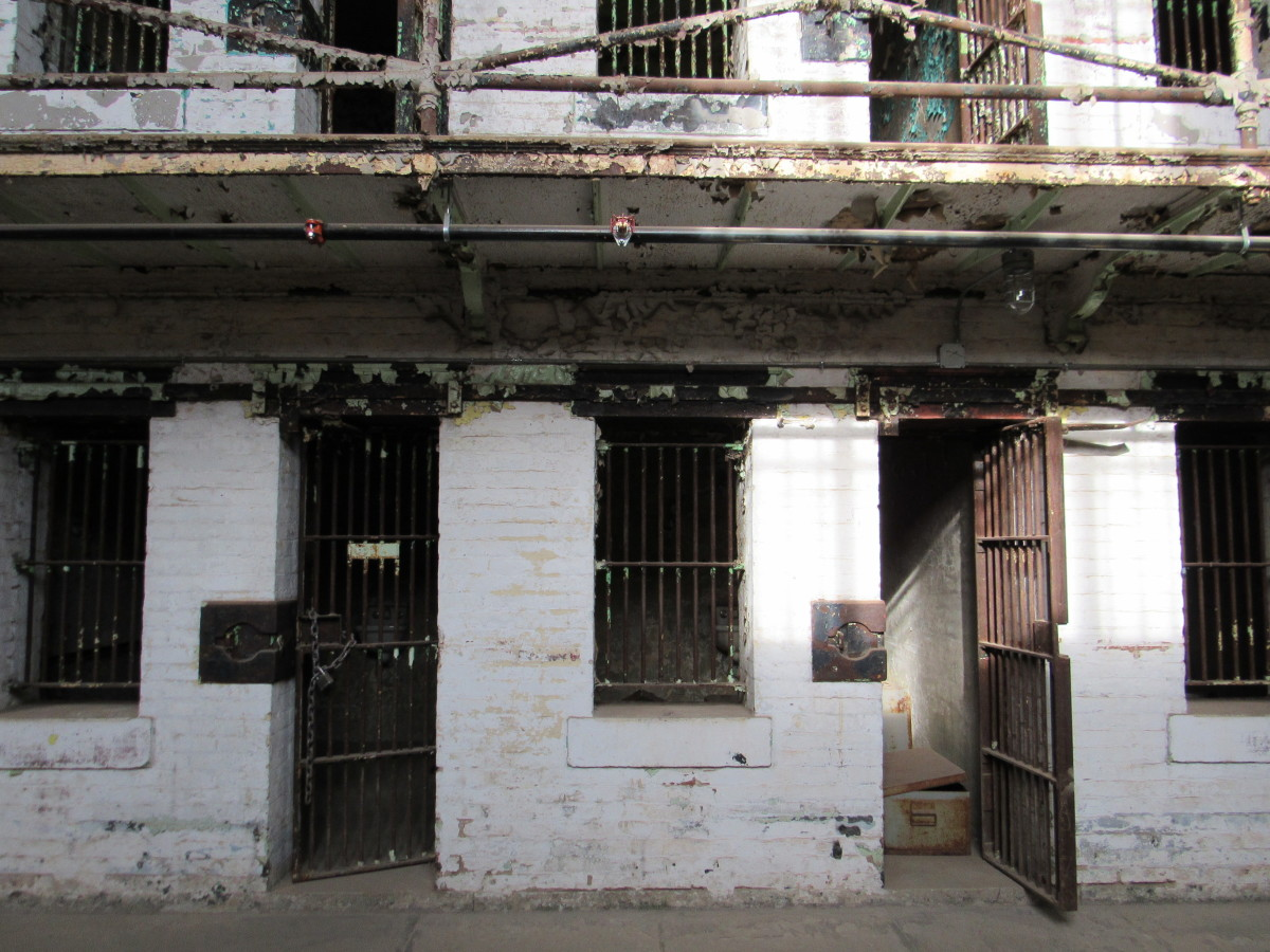 First tier of the west cell block