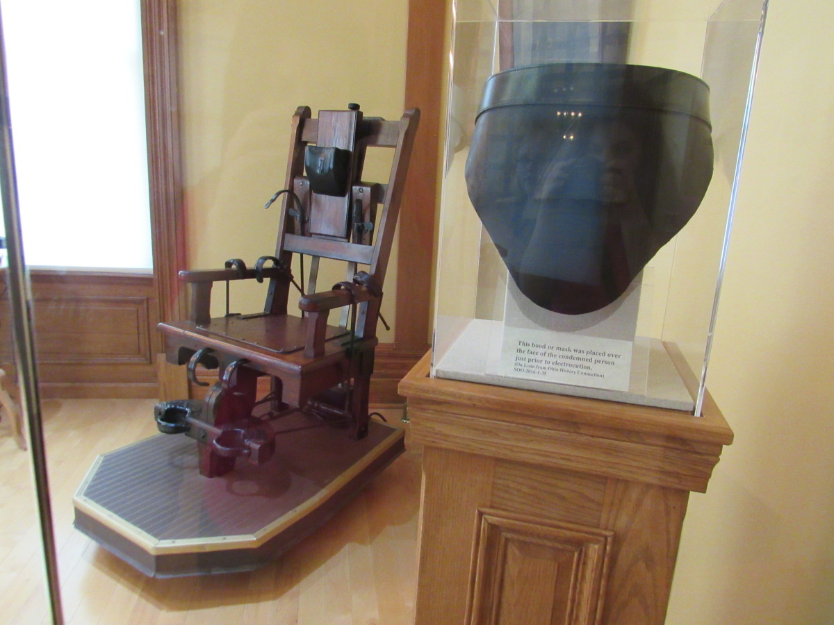 Electric chair and face mask used during executions