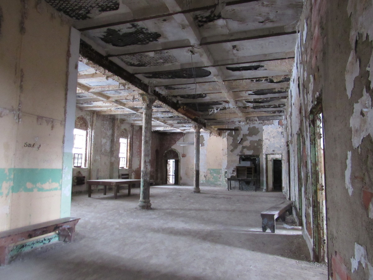 Main section of the infirmary that housed patients
