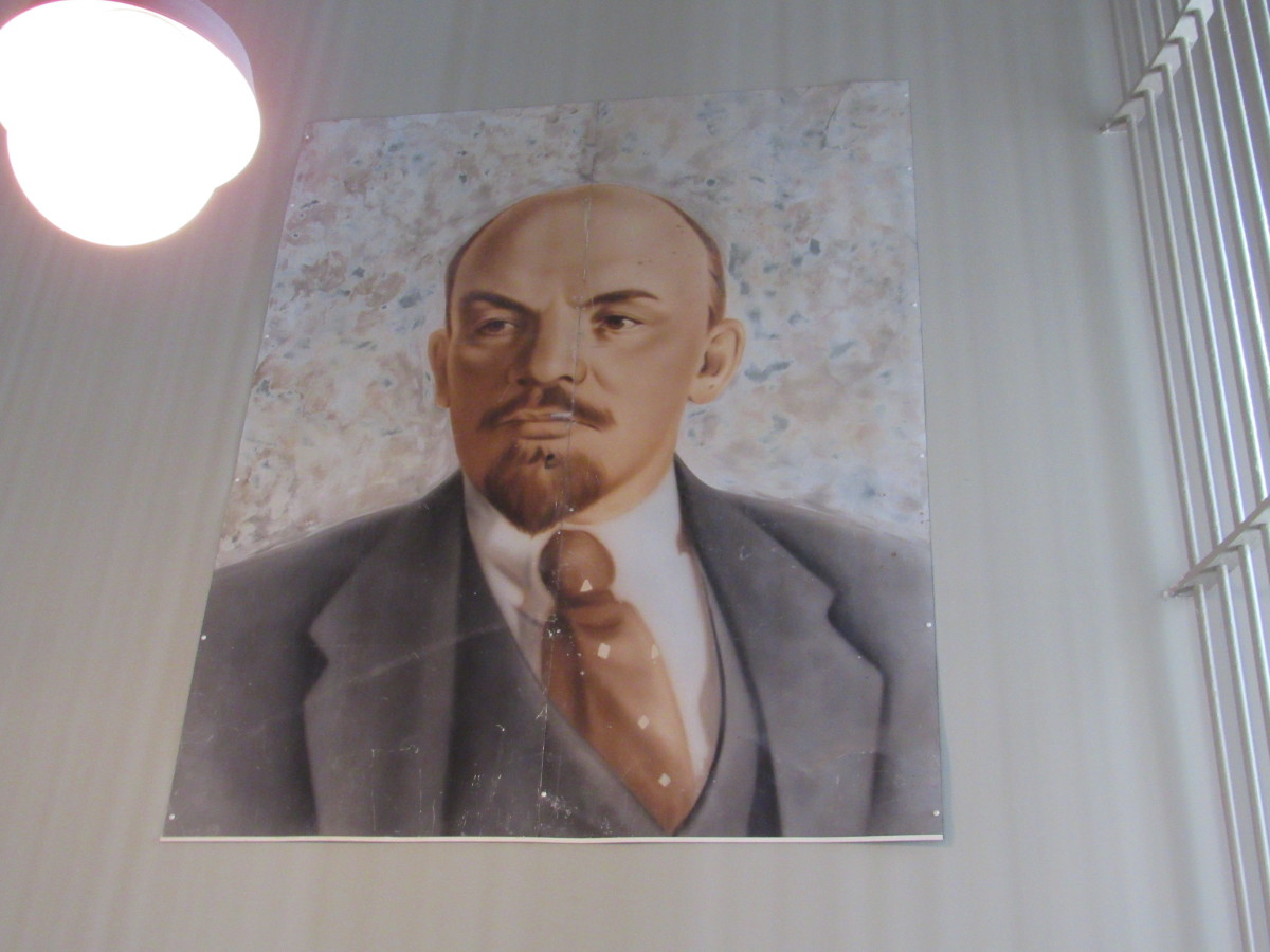 Portrait of Vladimir Lenin which appeared in Air Force One