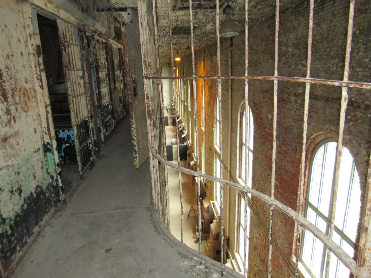 Fourth tier of the east cell block