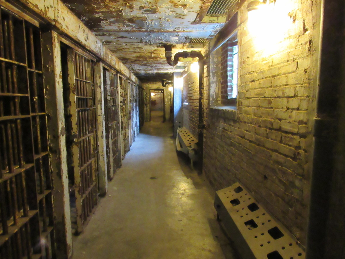 Older section of the solitary confinement block