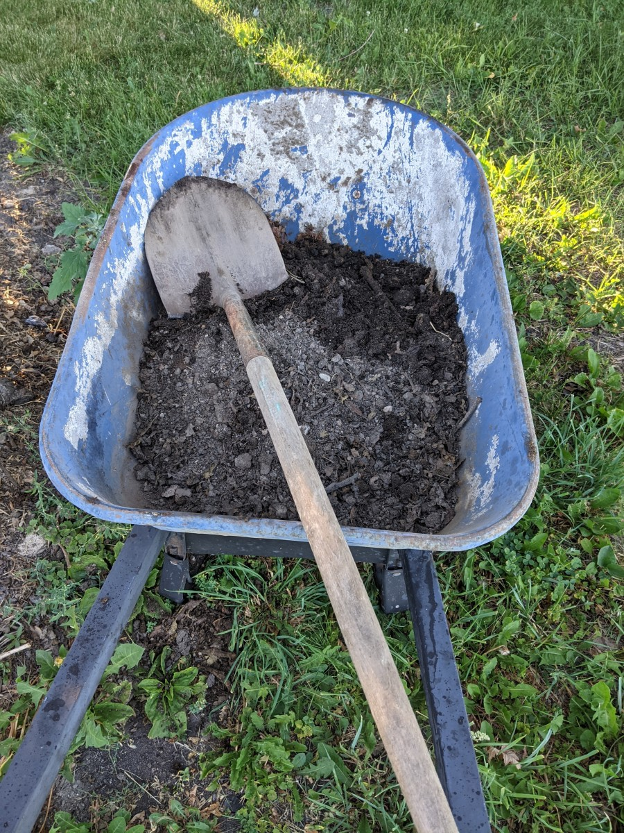 Fill up wheelbarrow