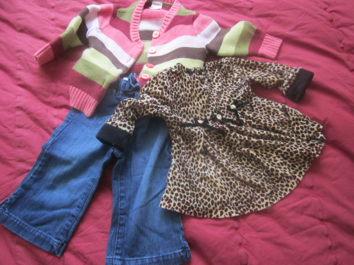 Why buy new baby and toddler clothing when nearly new clothes are plentiful at yard sales?