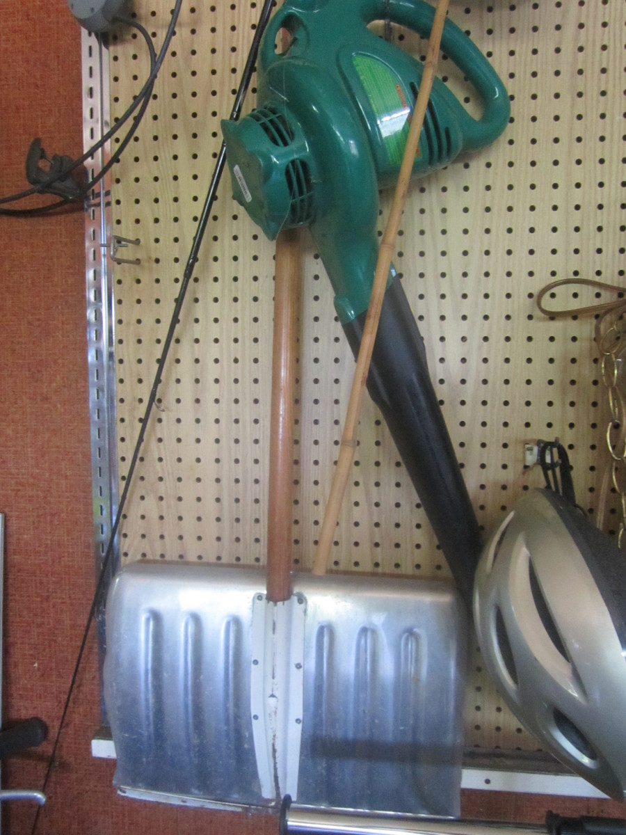 You can buy tools and yard implements at a fraction of the cost at garage sales.