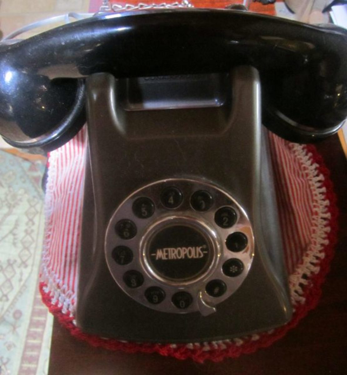 Someone getting rid of their landline was my lucky day in getting this cool phone for $1.00. I love the old-fashioned sounding ring!