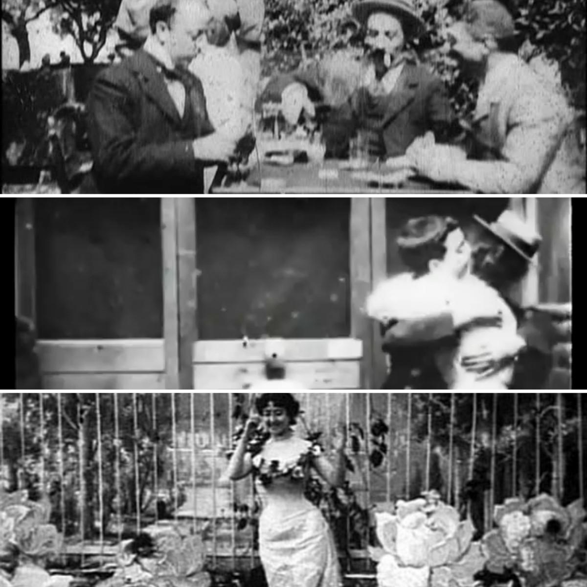 Stills from various remade films