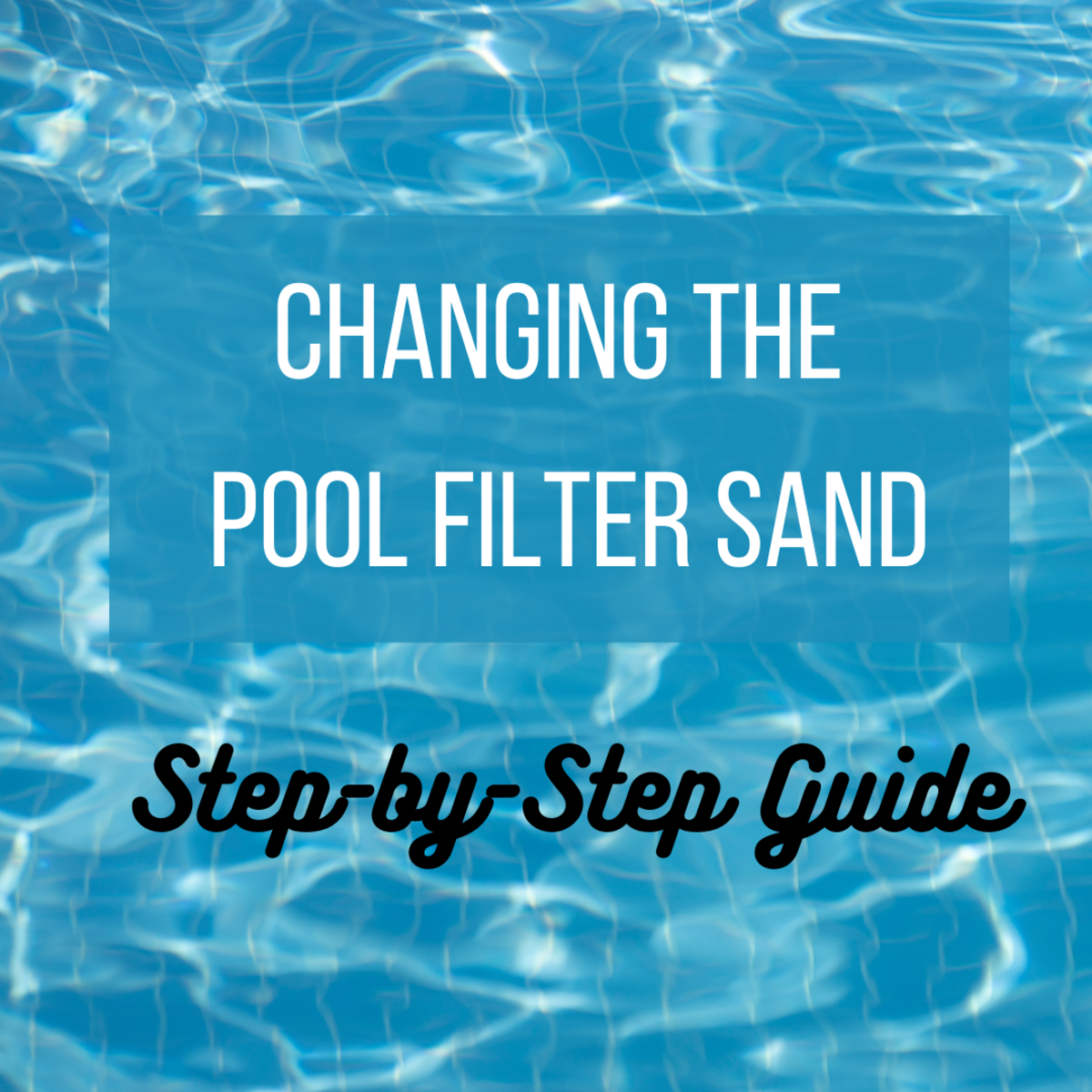 I'll show you how easy it is to change the sand in your pool filter