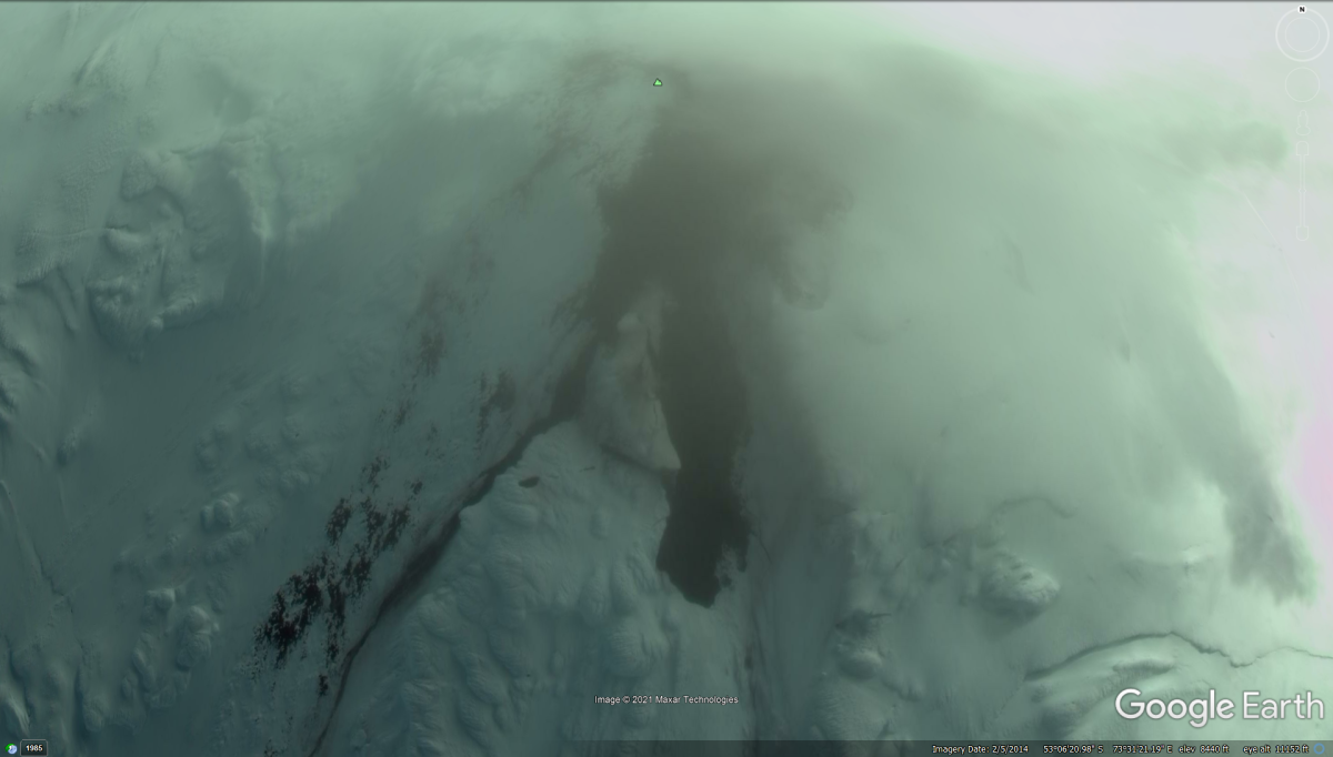 Heard and MacDonald Islands Backside of Giant