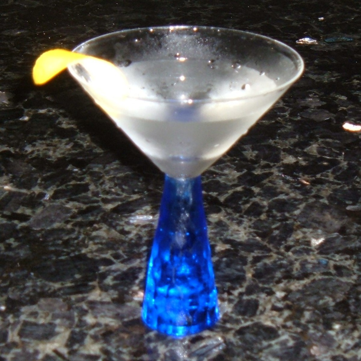 The Classic Martini with a lemon twist
