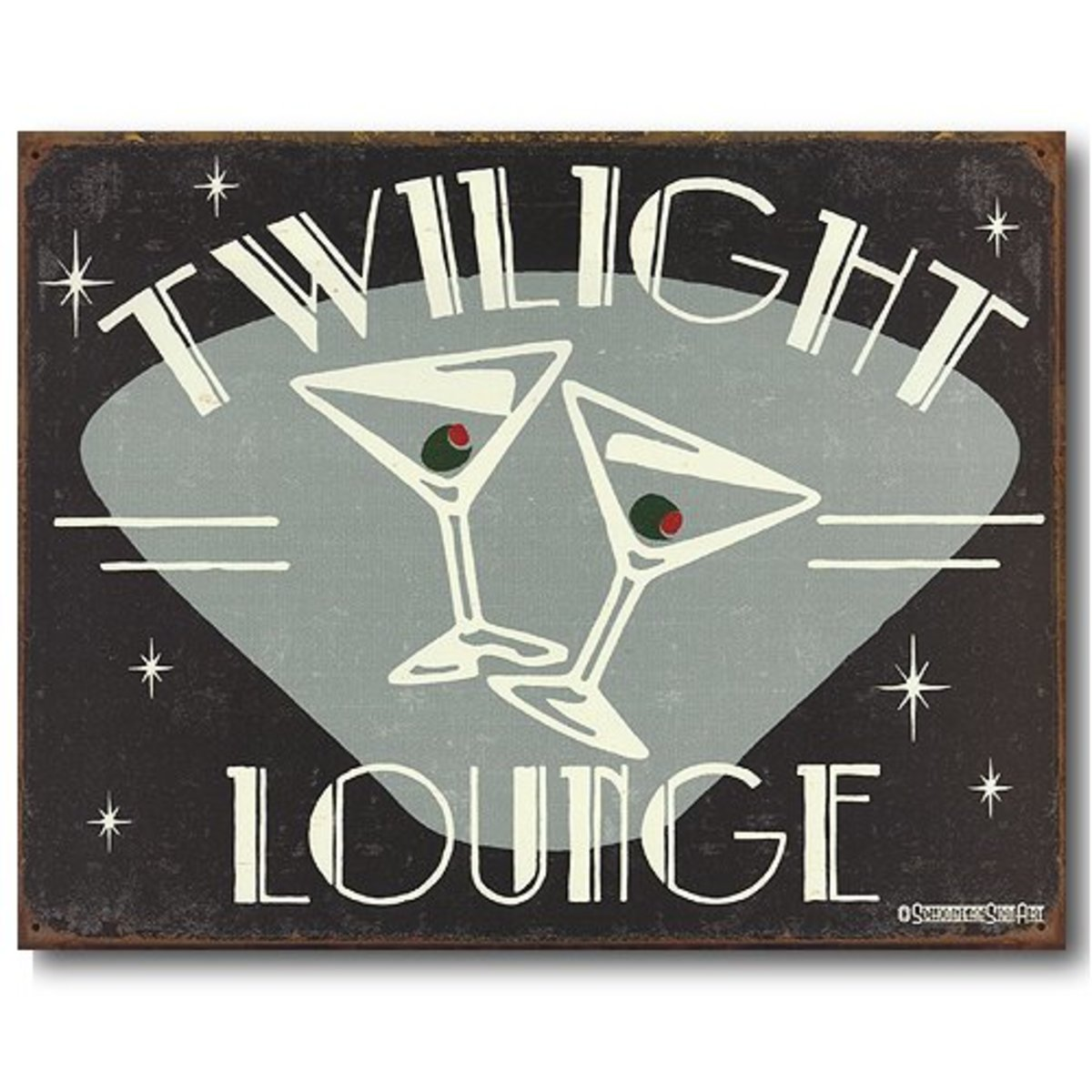Twilight Lounge Martini Sign
