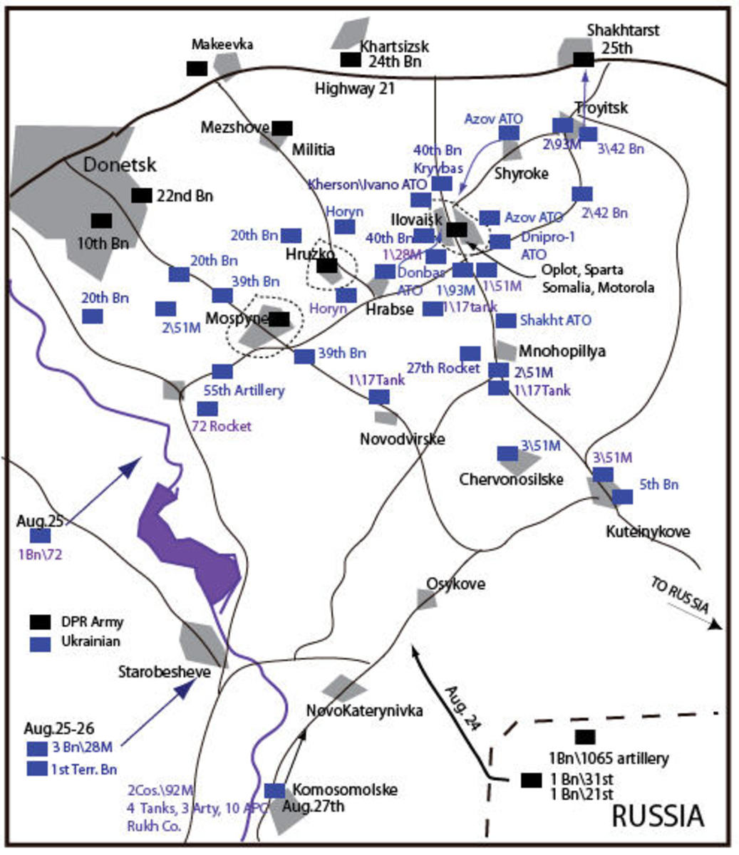 The Battle for Iloviask and Highway 21 in the Ukraine