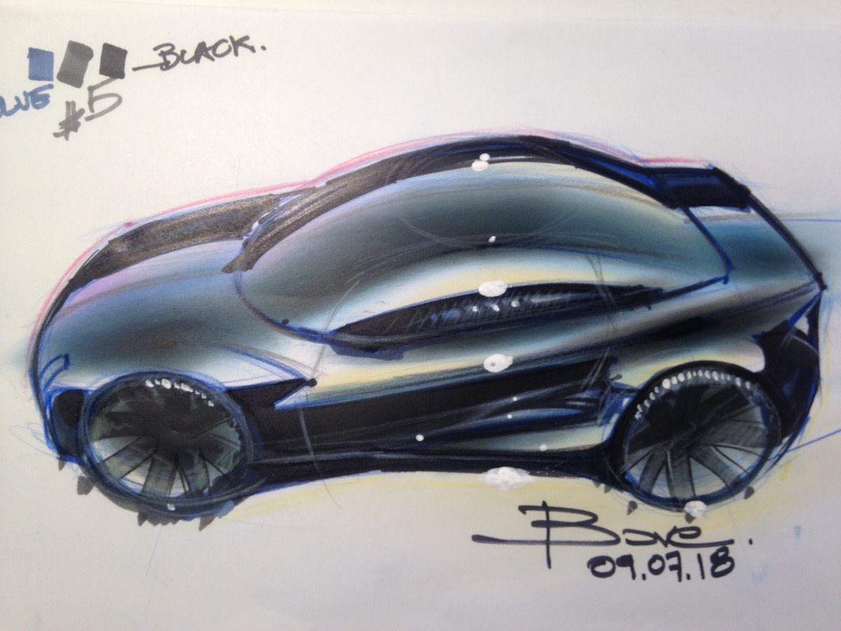 Black Car Sketch by Luciano Bove