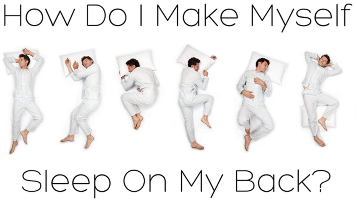 How can I sleep in the supine position all the time?