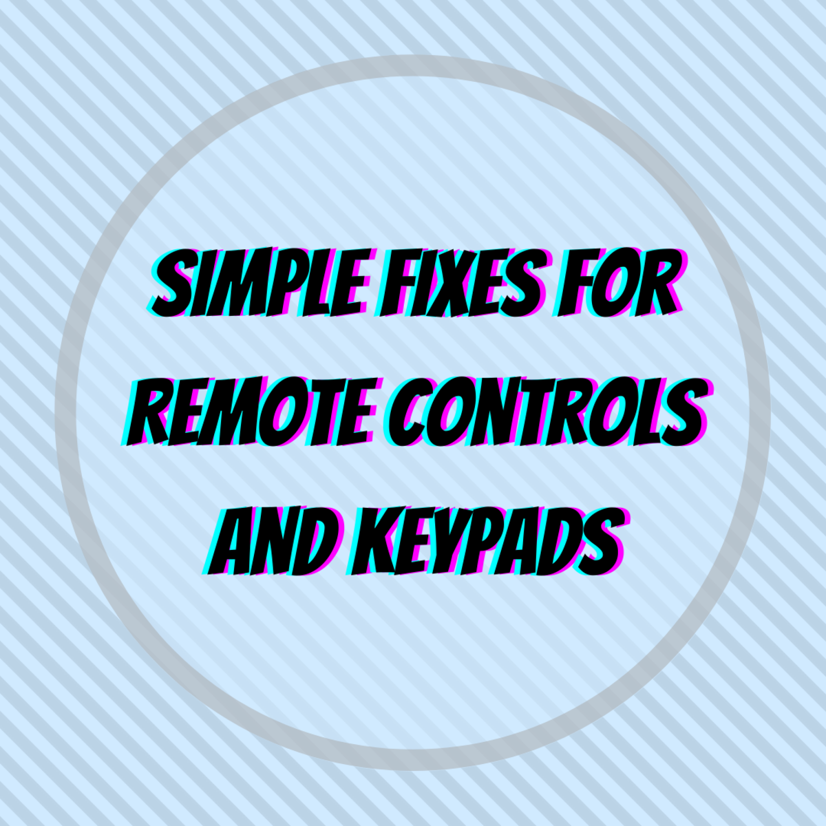 Learn how to fix your remote control and/or keyboard pad with aluminum foil, conductive silver ink, and replacement rubber pads