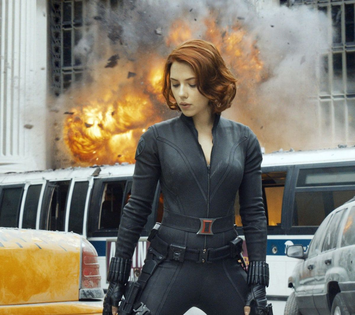 Black Widow in the first Avengers film.