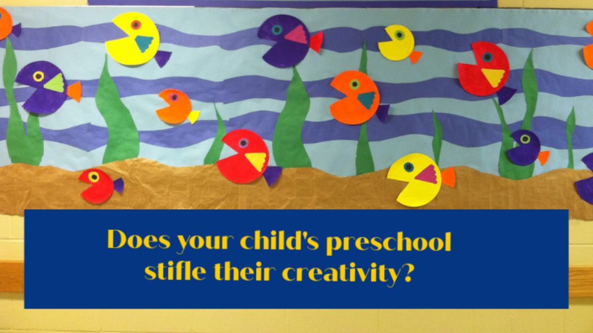Preschool craft projects look great on bulletin boards but do nothing to stimulate a child's imagination and initiative.