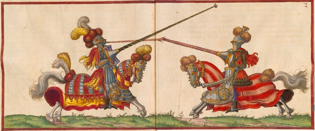 A joust depicted by Paulus Hector Mair in the 1540's.