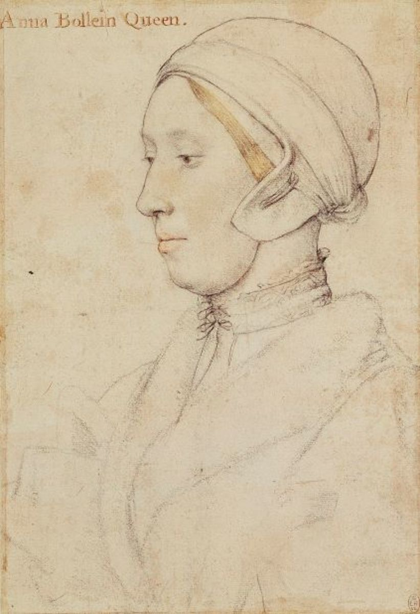 A sketch of Anne Boleyn by Hans Holbein the Younger.