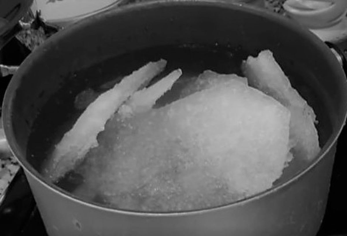 People were melting snow for water. Using snow to keep their food from spoiling.
