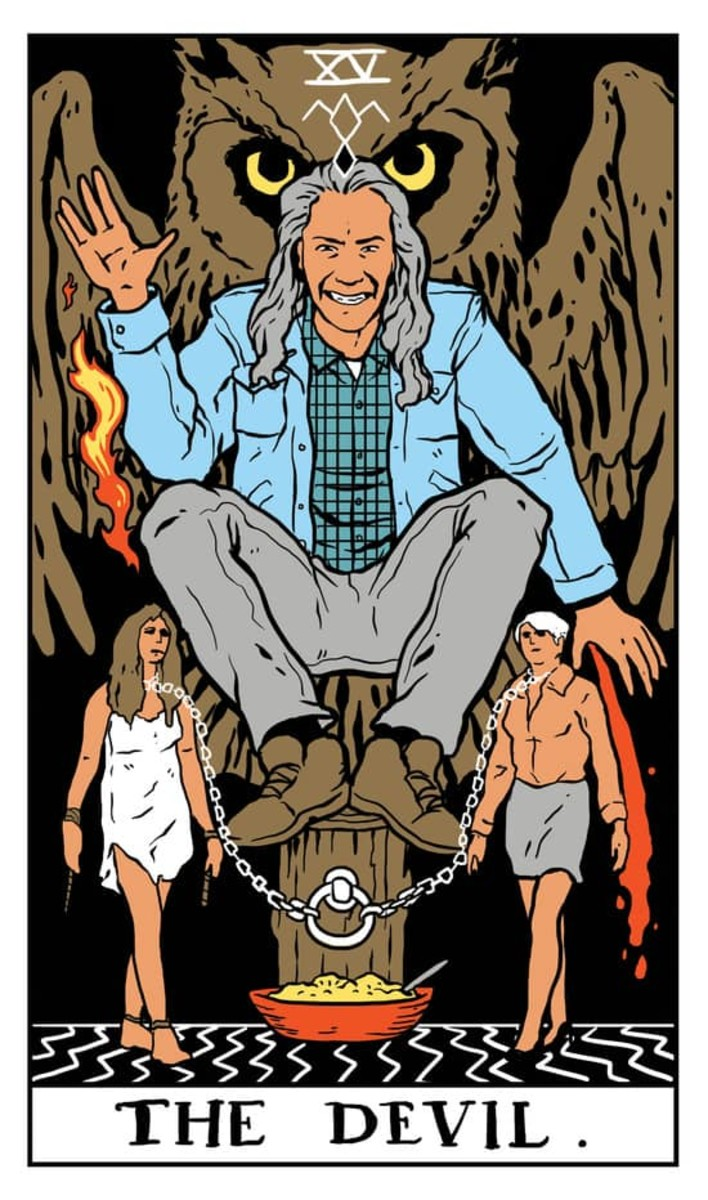 The Devil card indicates that you're seduced by the physical world and its charms. You demand that things are given to you rather than seeing it as a privilege to be part of this world.