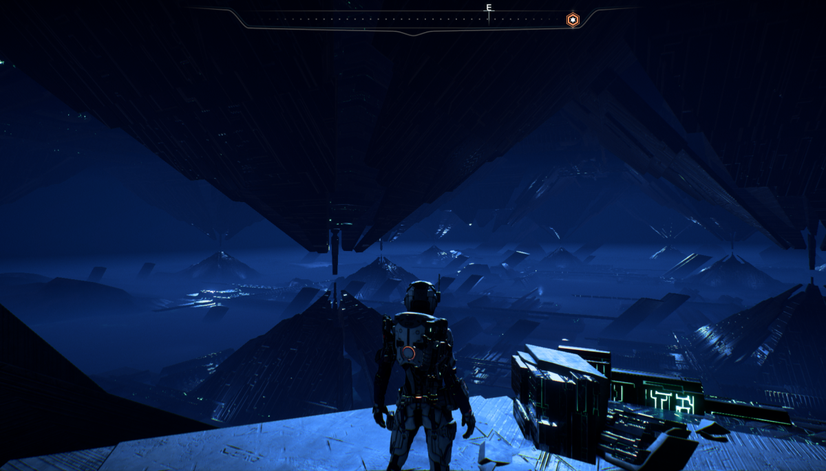 My Ryder looks at the Remnant city under Eos.