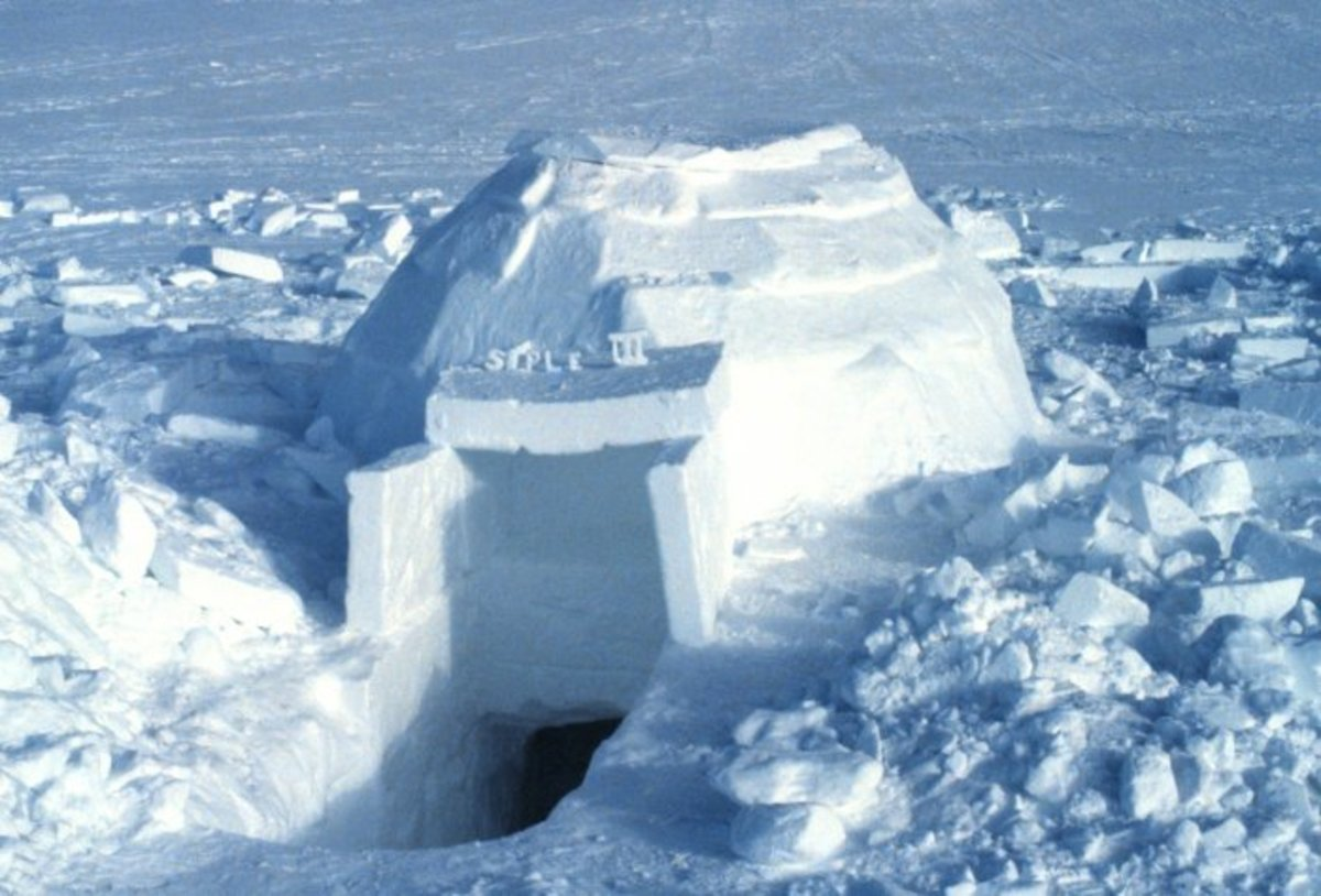 An igloo.