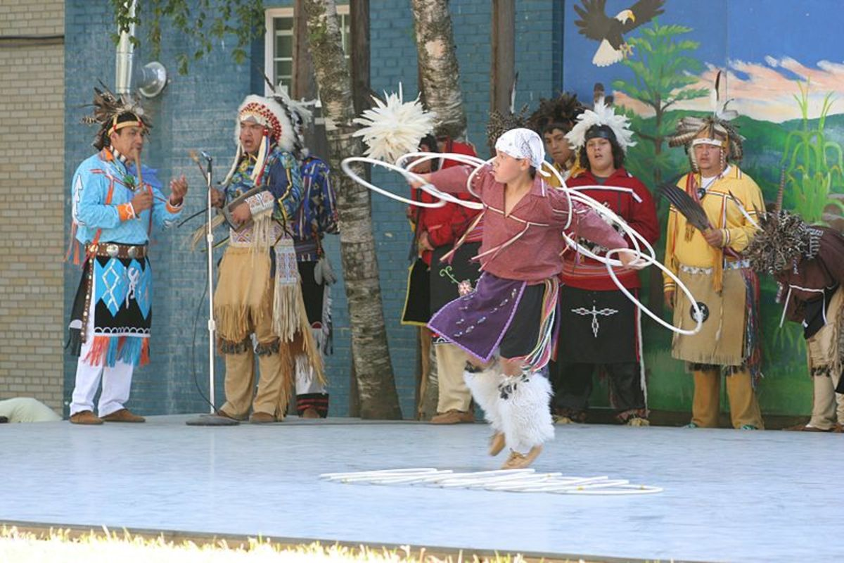 Ring Dance performance at the Iroquois Indian Village in the New York State Fair.