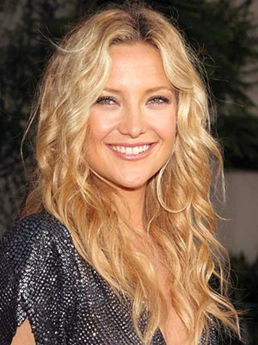 relaxed wavy loose curls beach style