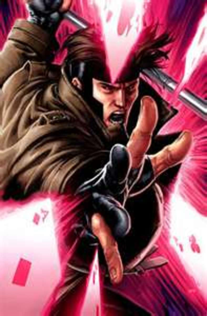 Gambit is a smooth talking energy charging war machine.