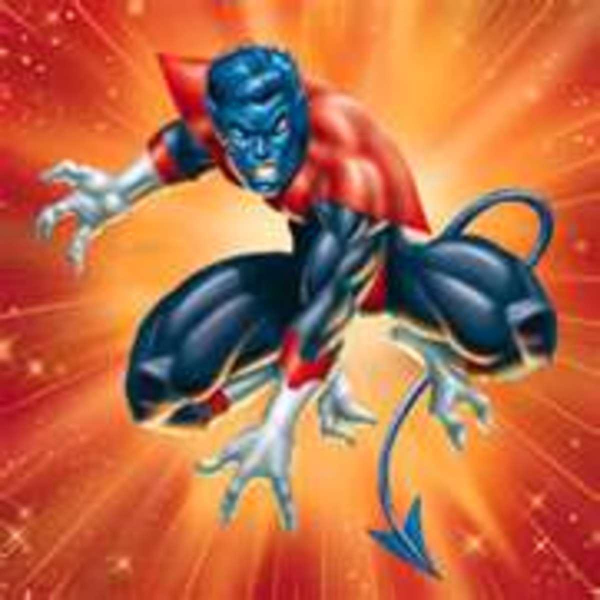 The demonic Nightcrawler is actual a soft spoken master of teleportation.