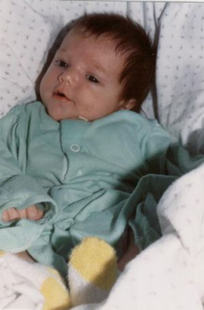 My daughter Paula as a newborn. She was alive and kicking long before I could see or even feel her within me
