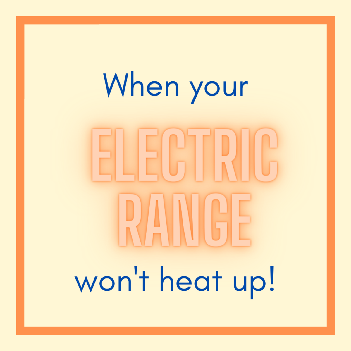 How to Repair an Electric Range Burner That Won't Heat Up