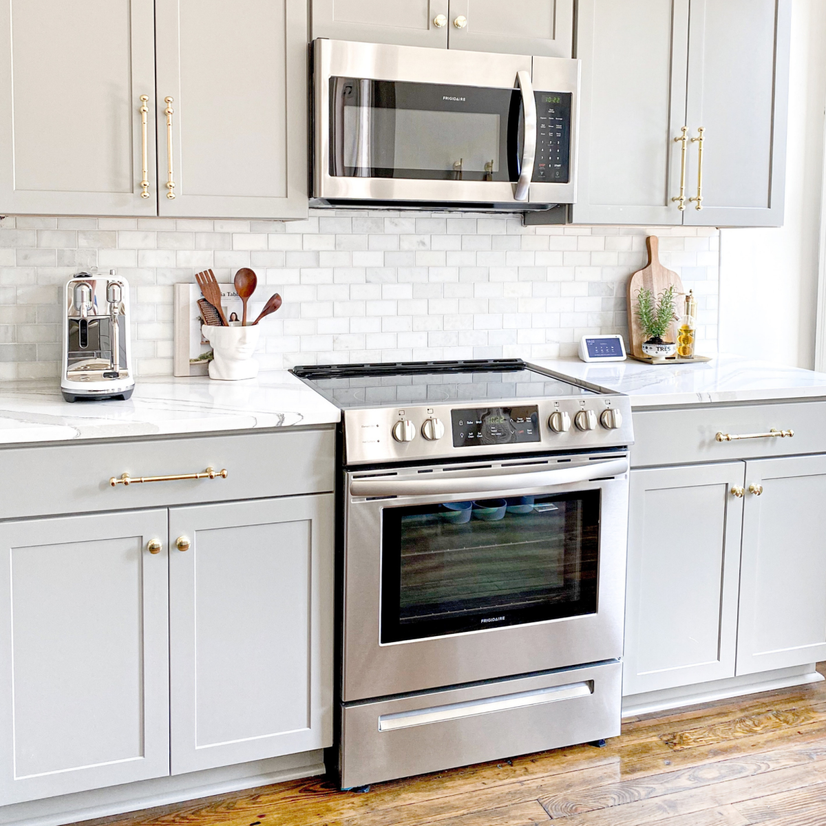 How to install a microwave over your stove or oven range.