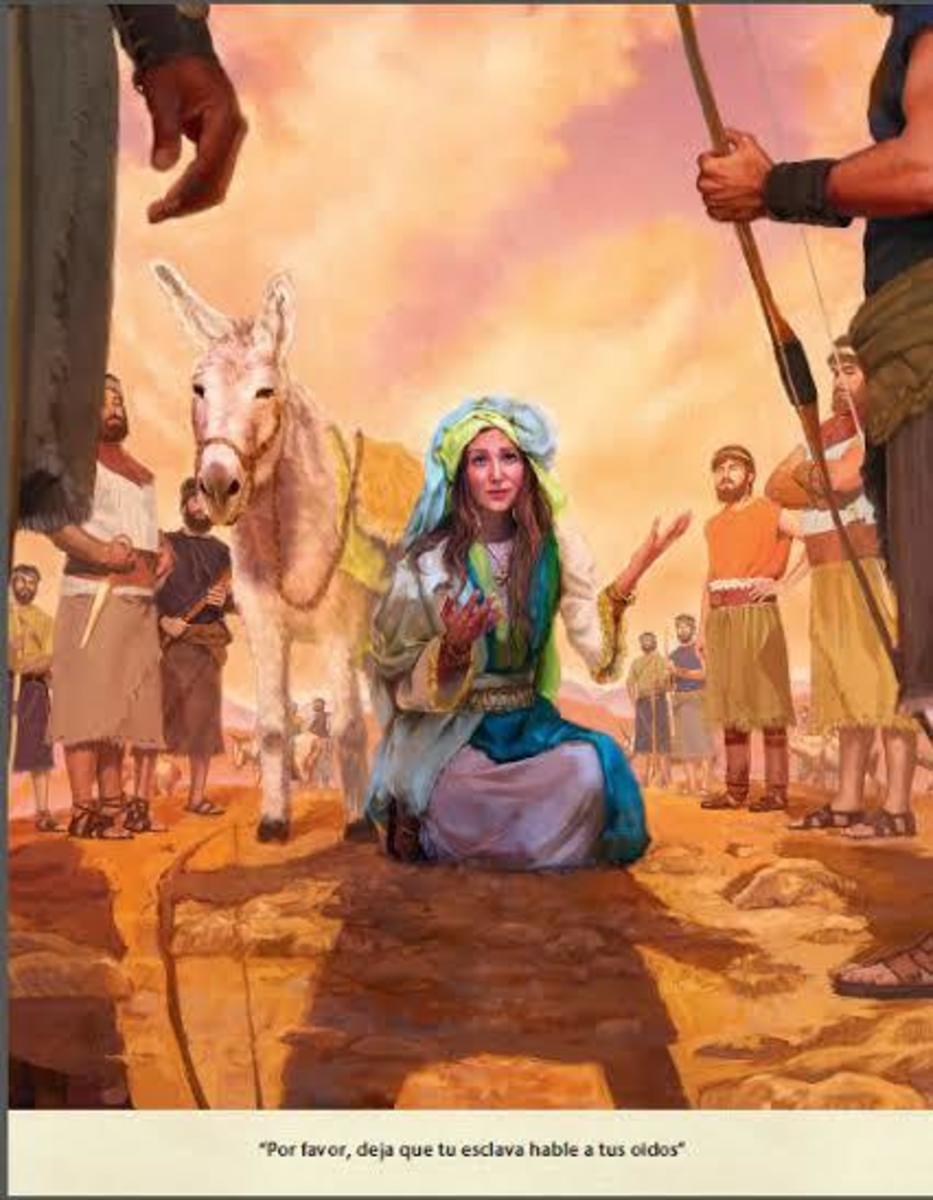 Abigail pacify David