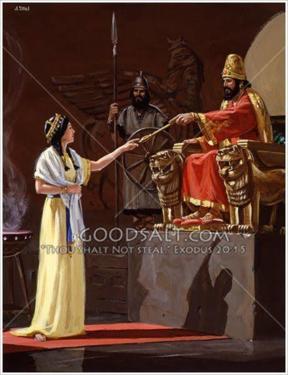 Esther approach the king