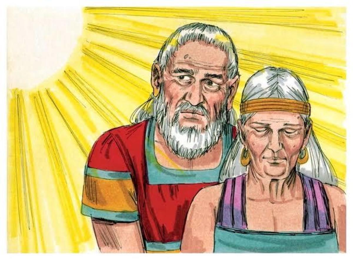 Sarah submits to Abraham