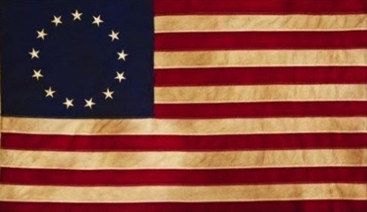 The Revolutionary War flag, known to many as the Betsy Ross flag.