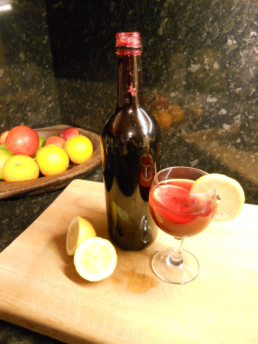Home-made blackcurrant cordial  with a slice of lemon