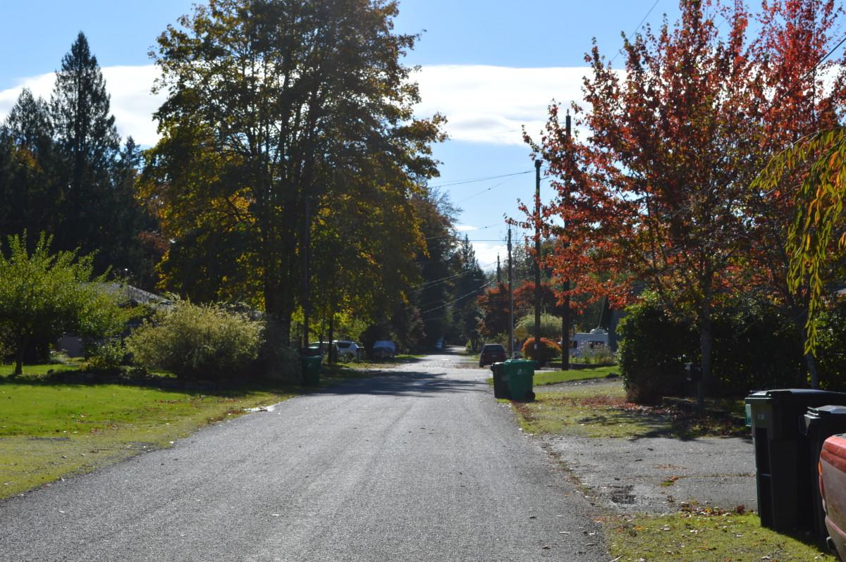 The neighborhood in the Fall