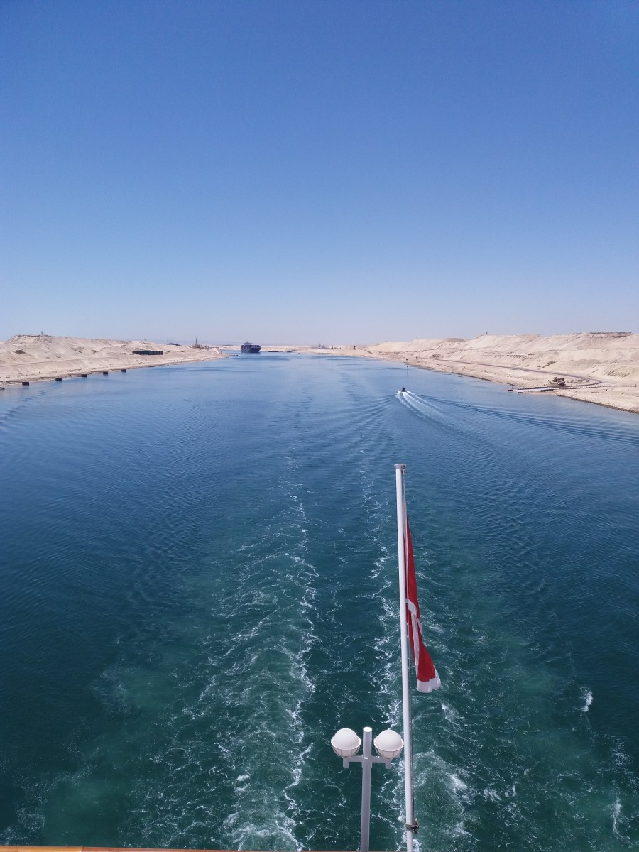 Travel Experience Crossing the Suez Canal, Egypt