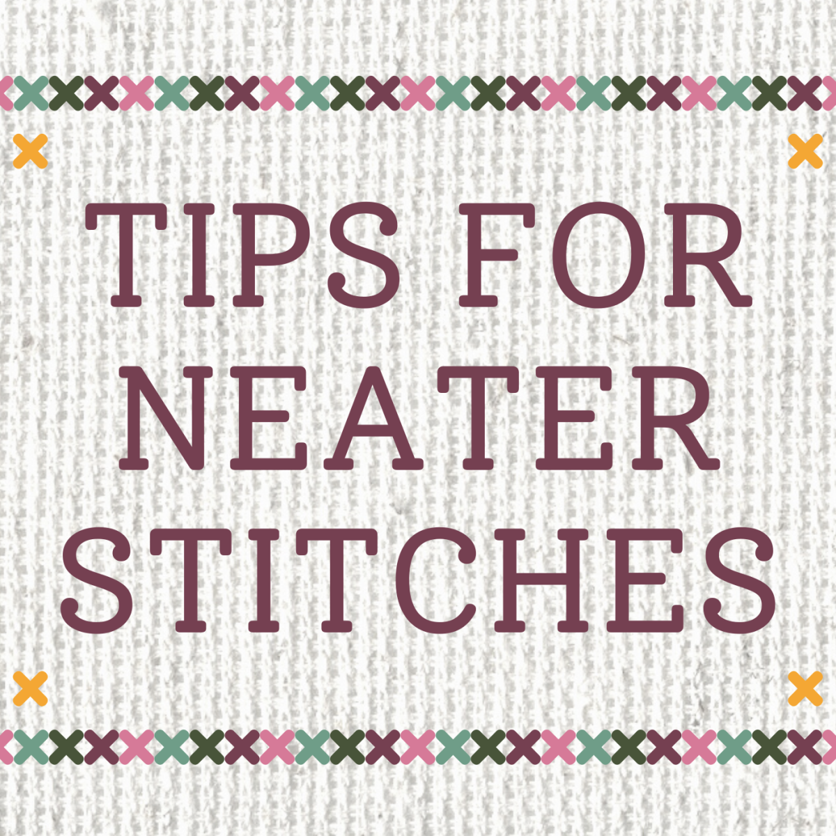 Learn about three techniques to keep your cross stitch laying flat and looking nice.